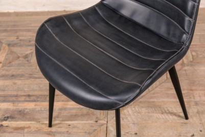black leather look dining chairs