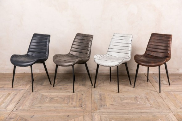 Cayman Faux Leather Dining Room Chairs