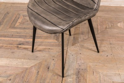 grey leather look dining chairs
