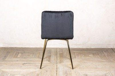 back of contemporary dining chair black