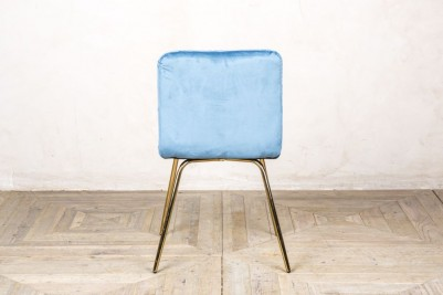 back of contemporary dining chair ocean teal