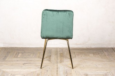 back of contemporary dining chair pine green