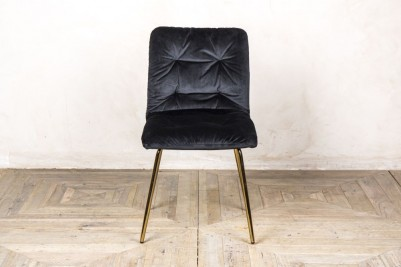 celine velvet dining chair black