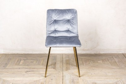 celine velvet dining chair cool grey