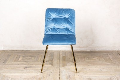 celine velvet dining chair ocean teal