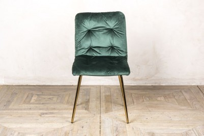 celine velvet dining chair pine green