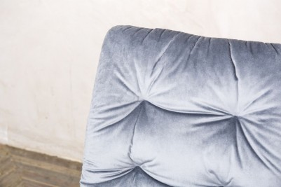 cool grey velvet celine chair