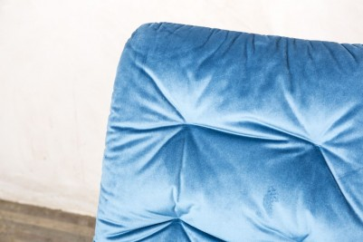 ocean teal velvet celine chair