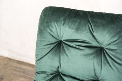 pine green velvet celine chair