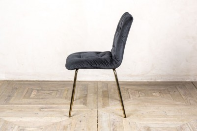 velvet restaurant chair in black