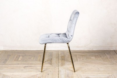 velvet restaurant chair in cool grey