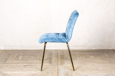 velvet restaurant chair in ocean teal