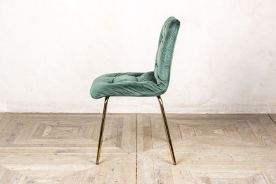 velvet restaurant chair in pine green
