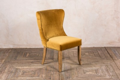 chamonix mustard side chair