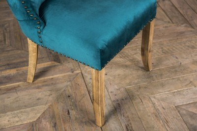 teal velvet side chair