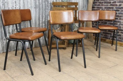 Chelmsford Leather Stacking Chair Range
