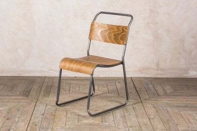gunmetal stacking chair