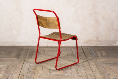 reproduction red stacking chair