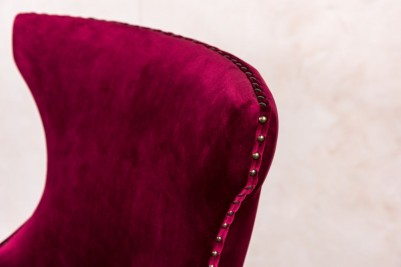 button back velvet stools
