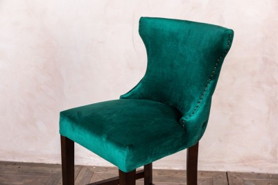 emerald velvet bar stool