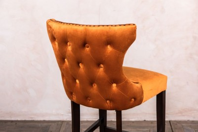 French style burnt orange stool