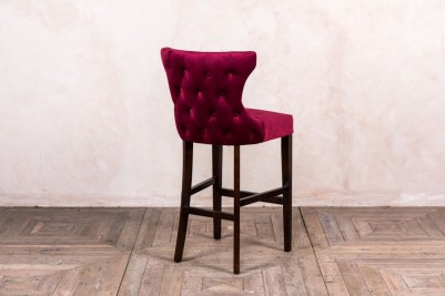 French style button back chair