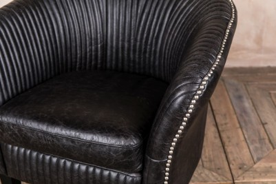 leather tub armchair