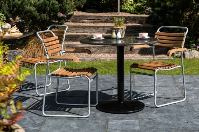 galvanised stacking chairs