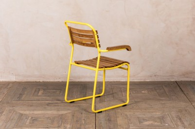 yellow slatted chair