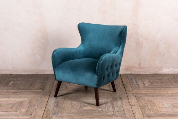 Lourdes Velvet Button Back Chair