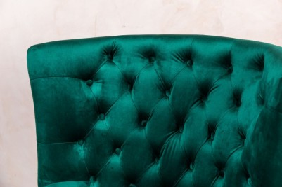 velvet button back armchair