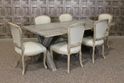 limed oak table and chairs