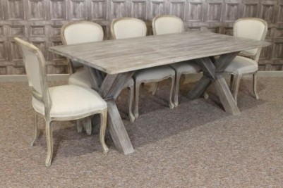weathered oak table and chairs