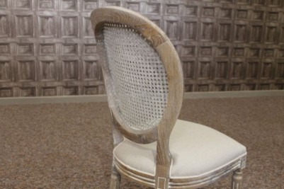 limed oak bergere french style chair