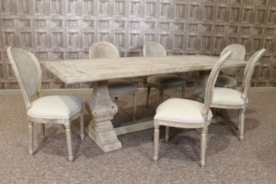 limed dining set