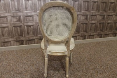 limed oak french style bergere chairs