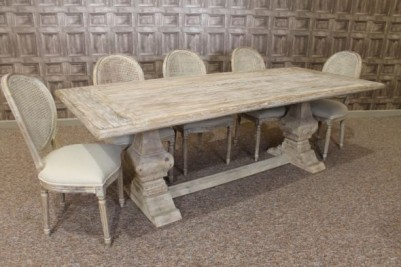 reclaimed elm dining set