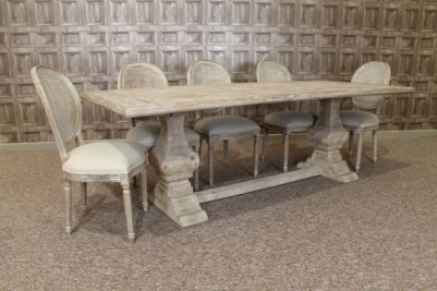 rustic bleached dining set