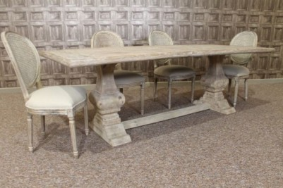 rustic reclaimed limed dining set