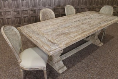 white washed dining set