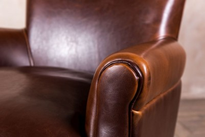retro leather armchair