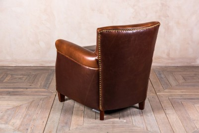 traditional brown leather armchair