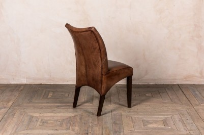 vintage style leather dining chairs
