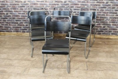 industrial style stacking chairs