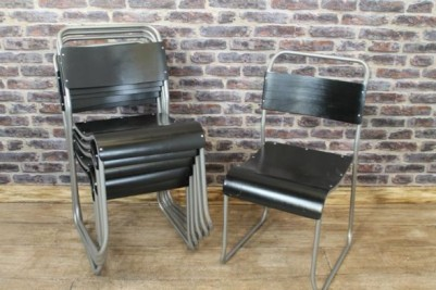 industrial style stacking school chairs