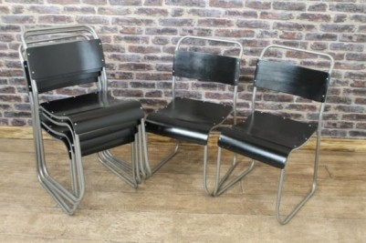 silver frame stacking chairs