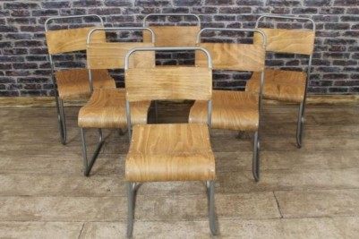vintage style stacking chairs