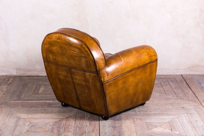 round leather armchair