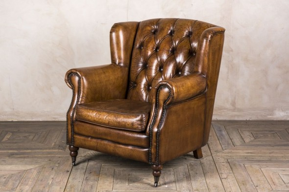 Berkeley Leather Vintage Style Armchair