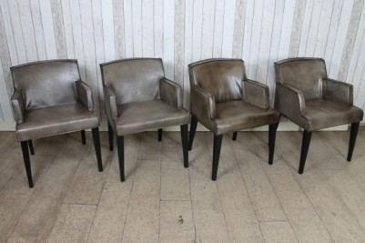 retro style leather chairs
